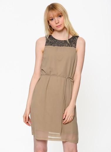 Belden Bağlamalı Günlük Elbise-Vero Moda